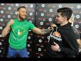 Conor McGregor called the date of the fight a rematch with Jose Aldo interview