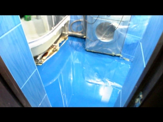 3D пол в ванной комнате