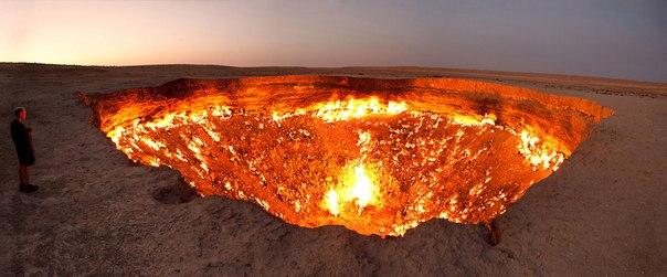 Фото дня. Газовый кратер Дарваза в Туркмении.