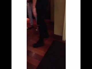 I was just casually eating at a restaurant and luke decides to walk in