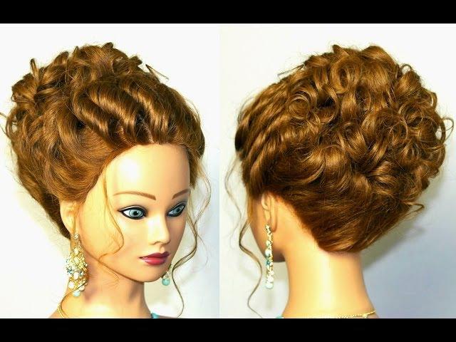 Прическа для длинных и средних волос. Вечерняя, на выпускной