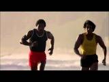 Тренировка и спортивный бег боксера Рокки Бальбоа фильм Рокки III