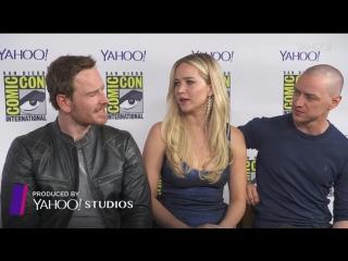 11.07.15: Интервью Джен, Джеймса и Майкла для «Yahoo» на Комик-Коне