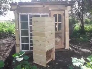 Строим яму для кроликов №13 (Бункерная кормушка для сена)