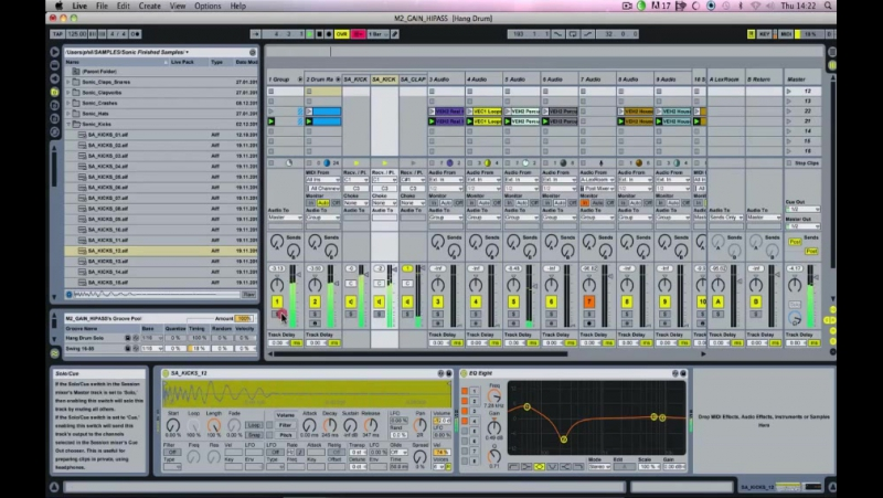 Sonic Academy - Mixing - Creating Space (3 - EQing the Drums-1)