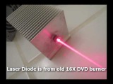 Powerful Homemade Burning Laser Built From Computer Parts