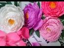 Peony paper flower Hướng dẫn làm hoa mẫu đơn từ giấy nhún