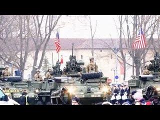 Американская бронетехника у границ России на параде в Эстонии / НАТО