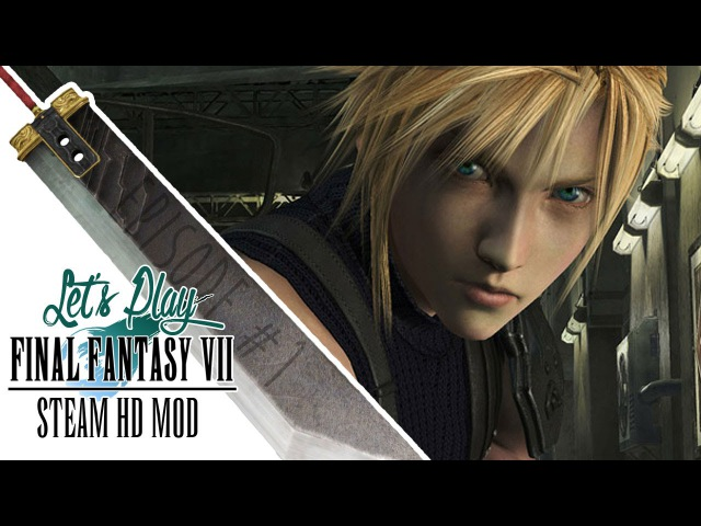 Lets Play Final Fantasy VII Steam HD Graphics Mod [1] Tentacle Dogs and Roboguards Abound!