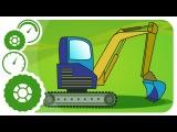 Excavadora, Camión, Coche de Carreras. Carritos Para Niños. Caricaturas de carros. Tiki Taki Carros