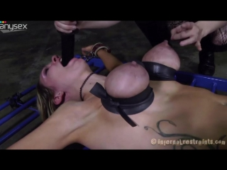 Poor Rain DeGrey gets her tits squeezed badly so they go blu