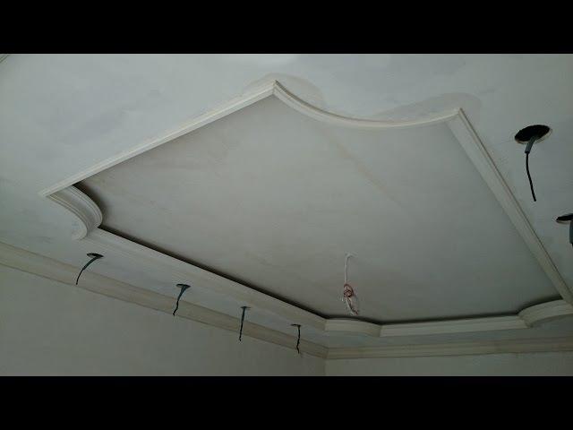 гипсокартонный потолок 15. Классический, с углами и подсветкой. Один из способов ...