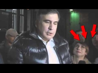 Журналистка, которая очень хочет взять интервью у Саакашвили    HD