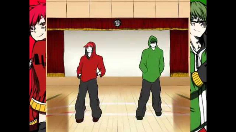 Matryoshka x Kuroko no Basket 手描き黒バス キセキにマトリョシカ踊らせてみた