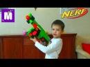 НЕРФ Бластер Зомби Страйк распаковка игрушечного оружия, стреляем по яйцам
