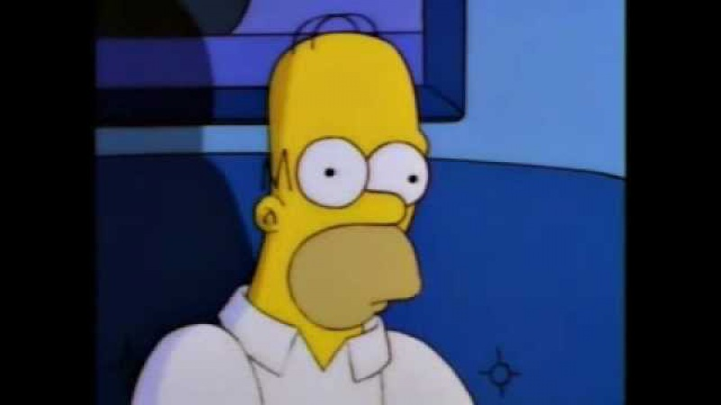 Homer Simpson Watches Twin Peaks