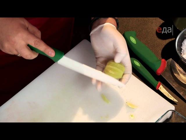 Авокадо с тигровыми креветками и медово-цитрусовый салат
