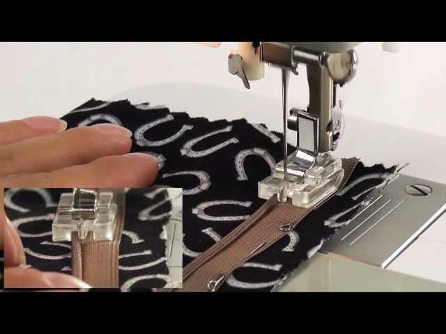 Лапка для вшивания потайной молнии AU-104