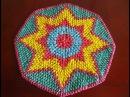 Коврик из пакетов Коврик крючком из пакетов Вязание коврика крючком Часть 2 crochet rug P 2