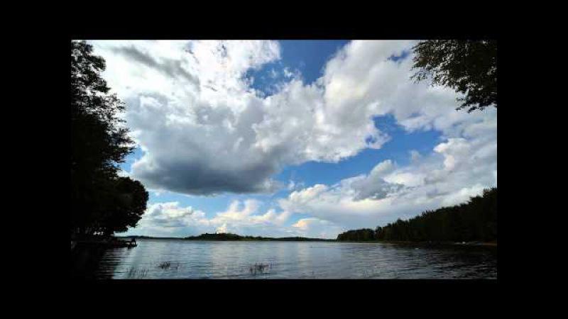 Облака на озере Жижица. Timelapse FullHD