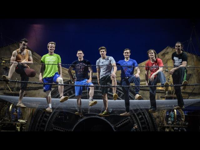 Kurios by Cirque du Soleil - Acro net training