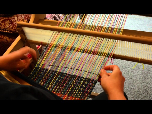 15 warp floats on a rigid heddle loom