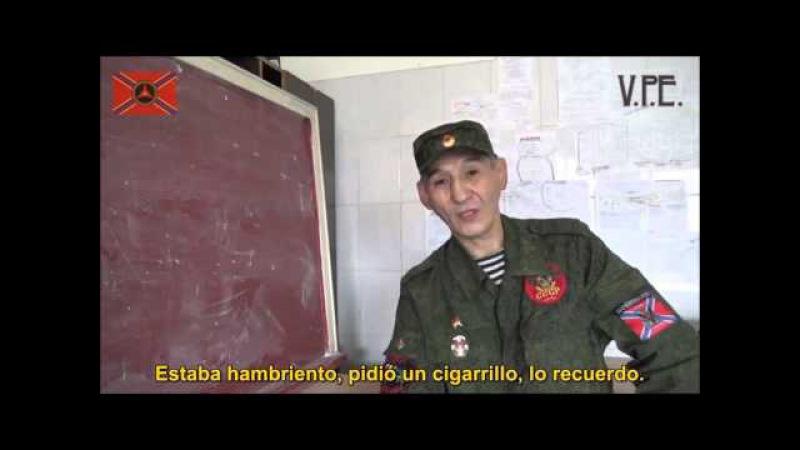 Romeo voluntario de Kazajistán que participó en la liberación de Debaltsevo (Sub.Castellano)
