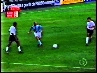 Corinthians 1 x 3 Grêmio - Grêmio Tetra da Copa do Brasil 2001 - Gol de Marcelinho Paraíba