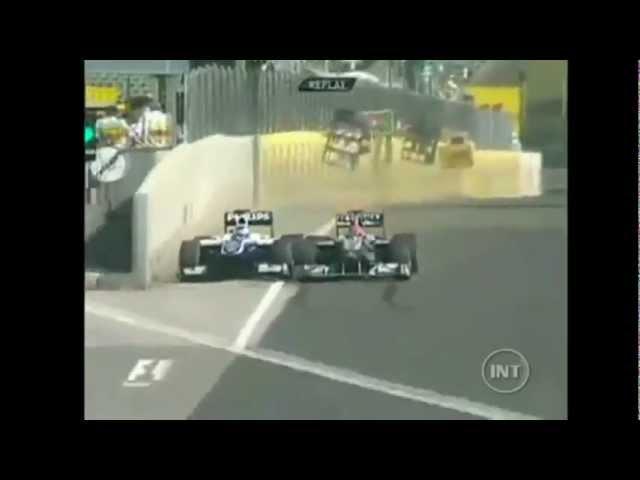 Barrichello x Shumacher na Hungria - 2010