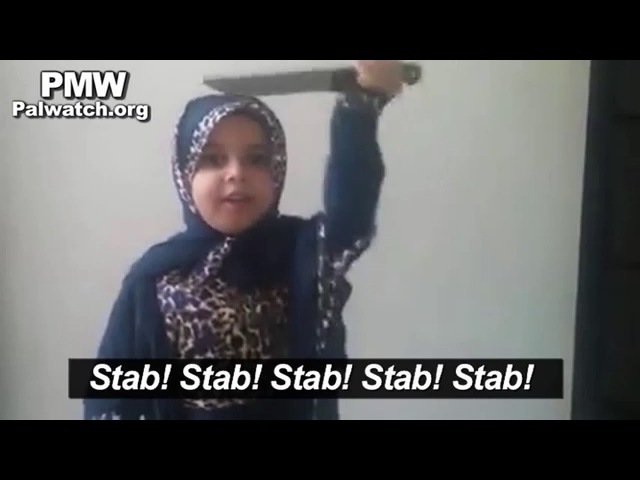 Little girl encourages stabbing Jews on Palestinian Facebook page -