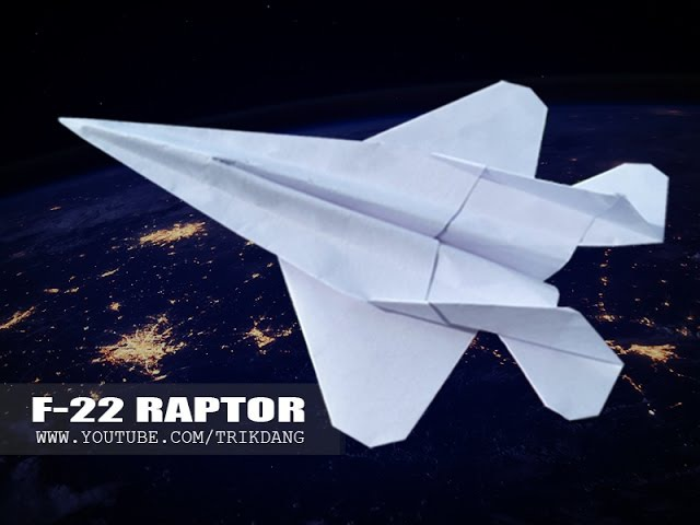 BEST PAPER JET FIGHTER - How to make a paper airplane that FLIES FAST FAR | F-22 Raptor
