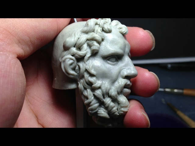How to Sculpt Ecorche Hercules - Part 77 Adding Hair and Beard