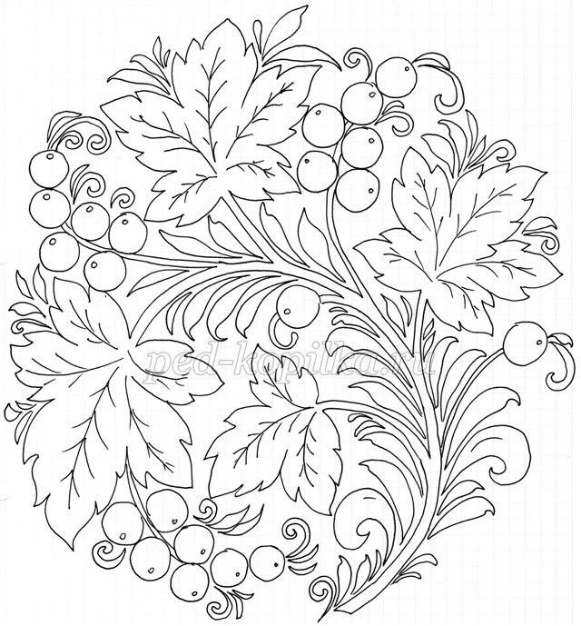 Орнамент русский раскраска