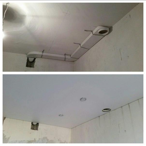 Как сделать вытяжку на натяжном потолке