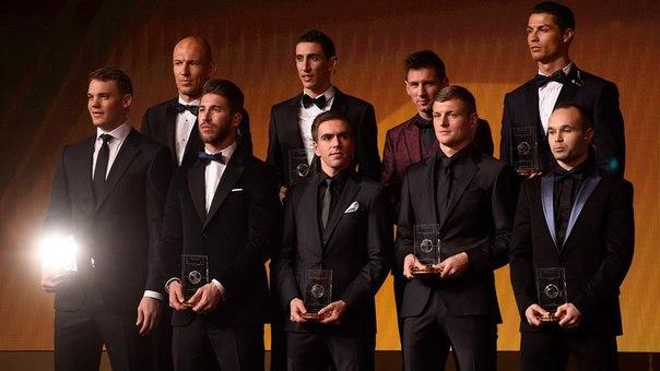 55 футболистов претендуют на попадание в символическую сборную ФИФА - 2015
