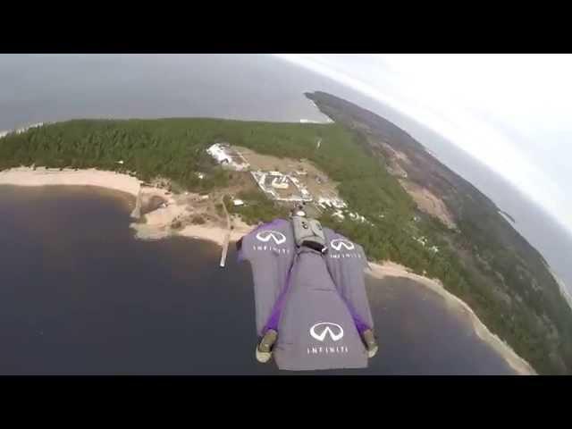 остров коневец. православные святыни.sky B.A.S.E. wingsuit fly.