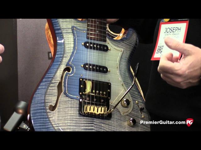 NAMM '16 - Knaggs Guitars Steve Stevens SSC, Severn HB Choptank HSS HB Demos