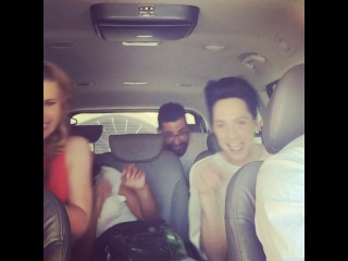 "TARA & JOHNNY on Instagram: ""Carpool x. @katyperry and our fabulous Rio Team @gaia_make @fabianemarcial"""