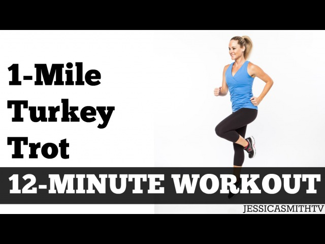 1-Mile Turkey Trot | Fast Paced Walking Workout Full Length Low Impact Home Exercise Video