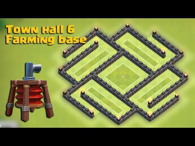 Clash of clans - Town hall 6 (TH6) Best Farming base 2015