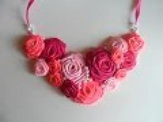 Мастер класс : Ожерелье с Розами / Master class : Necklace with Roses