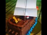 Пиратский корабль торт