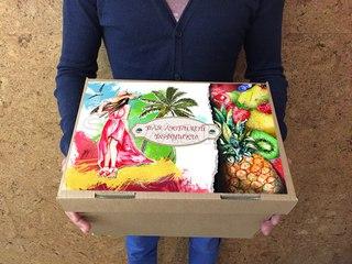 Подарок из тайланда фрукты в коробке