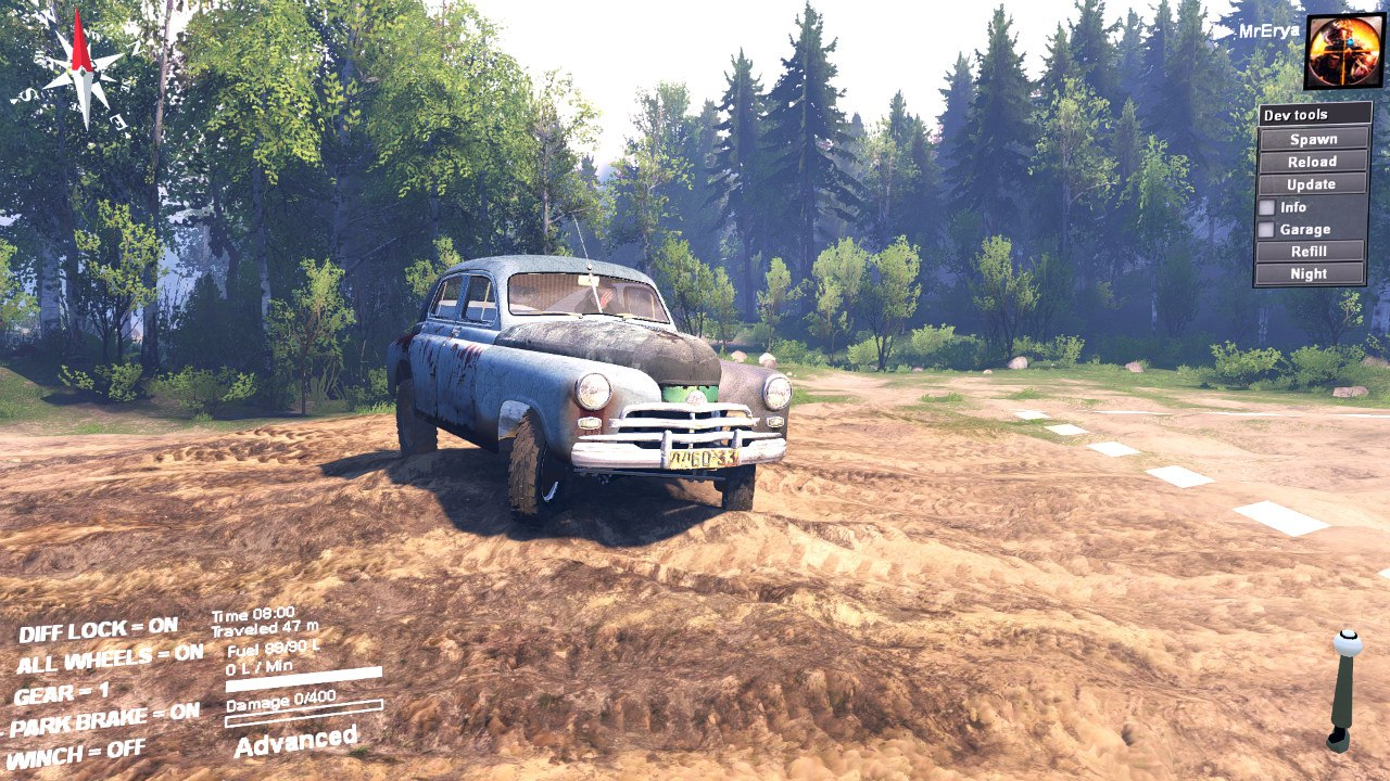 ГАЗ M72 «Победа» для 03.03.16 для Spintires - Скриншот 3