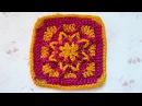 ♥ Квадратный мотив Польская звезда Вязание крючком для начинающих Crochet granny square