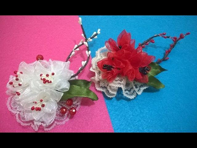 D.I.Y. Organza Lace Flower - Tutorial   MyInDulzens