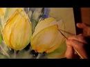Aquarell gelbe Tulpen Tutorial Teil 2