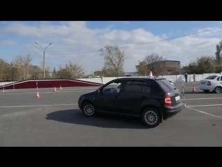 Упражнения на автодроме- эстакада, змейка, гараж, параллельная парковка ГАИ