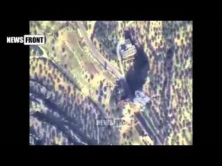 Уничтожение бомбардировщиком Су 24 командного пункта ИГИЛ в провинции ИДЛИБ