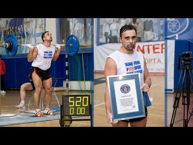 520 squats with 80 kg barbell 520 приседаний со штангой 80 кг